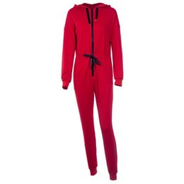 jumpsuits long Australia - Fashion long sleeve knit hooded cardigan sports jumpsuits women long safari pants suits two pieces set sporting tracksuit