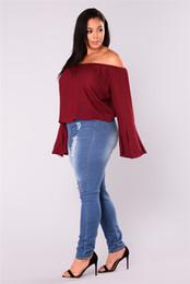 Legging Destroyed Australia - Womens Plus Size Destroyed Ripped Holes Skinny Jeans Leggings Mid Rise Stretchy Straight Leg Slim Fit Denim Pants