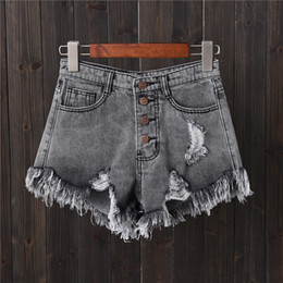 Plus Size Jeans Girls Australia - Liva Girl European American Bf Summer Wind Female High Waist Denim Shorts Women Worn Loose Burr Hole Jeans Shorts Plus Size C19041001