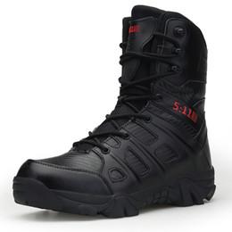 Venta al por mayor de Los hombres de alta calidad de la marca de botas de cuero de la fuerza especial táctica del desierto de combate de los hombres botas al aire libre zapatos tobillo XX-339