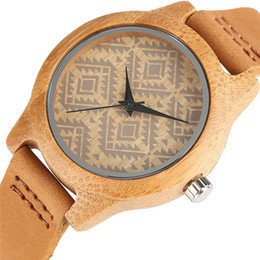 $enCountryForm.capitalKeyWord UK - watch fashion Unique Boho Style Bracelet Square Face Wooden Watch for Women Bamboo Female Clock Real Leather Band Fashion Ladies Girls Gifts