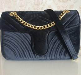 lycra strap Australia - Hot Sale Fashion Handbags Women Bags Designer Handbags Women 26cm gold Chain Strap Velvet Bag Crossbody Shoulder Bags Totes messenger b84ca#