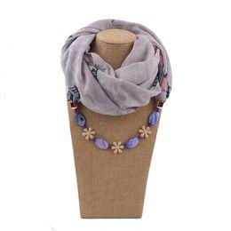 $enCountryForm.capitalKeyWord Australia - Fashion pendant scarves tassel beads Necklace ladies scarf headscarf resin effect jewelry pendant free shipping