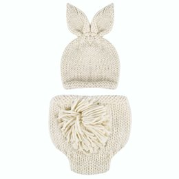 c2b62be9494 ewborn photography Newborn Photography Baby Photo Props Crochet Knitting  Baby Bunny Hat Rabbit Hats and Diaper Beanies and Pants Costum.