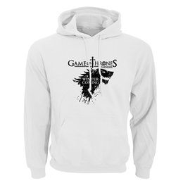 $enCountryForm.capitalKeyWord UK - 2018 New Game of Thrones Direwolf Men Hoodies And Sweatshirts Winter is Coming Cotton Hooded Top Quality Plus Size Raglan Sweatshirt S-XXL