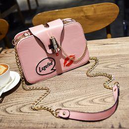 $enCountryForm.capitalKeyWord NZ - 2019 New Fashion Women Shoulder Bag Small Square Shoulder Handbag Luxury Lipstick Lock Single Chain Shoulder Messenger Bags