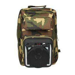 Discount backpacks speakers - Outdoor Loudspeaker in Backpack Bluetooth LED Flashlight Speakers 20W Stereo Hifi Subwoofers Soundbox FM Store 50 Radio
