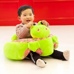 Toy Furniture Wholesale NZ - Cartoon Animal Baby Seats Sofa Toys Infant Learning Chair Leather Case Kids Furniture Plush Seat Learn to Sit Training Support