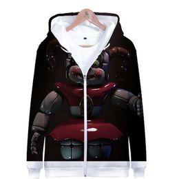 Nights Freddy S Clothes Australia - New Arrivals Five Nights At Freddy 3D printing Zipper Hoodie Sweatshirt Men Women 2018 Autumn Casual Harajuku Hoodie Clothing