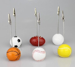 $enCountryForm.capitalKeyWord UK - DHL Sport Ball Photo Clip Alligator Wire Card Memo Photo Clip Holder Table Place Card Holder Event Party Favor Supplies