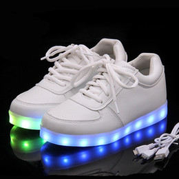 led sneakers Canada - Kriativ Usb Charger Lighted Shoes For Boy&girl Glowing Sneakers Light Up Kid Casual Luminous Sneakers Led Girl Children Shoes Y19051303