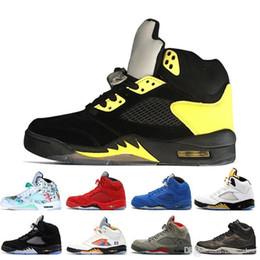 Silver Men Basketball Shoes Australia - International 5 5s Wings Flight Men Basketball Shoes 16 Prem HC Low China Silver White SUP men sports sneakers designer trainers