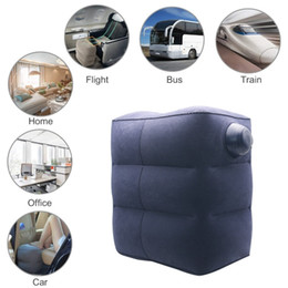 travel pillows for airplanes Australia - Inflatable Foot Rest Cushion for Under Desk Leg Support Pillow Knee Sciatica Hip Joint Ankle Pain Relief Car Airplane Pillows SH190925