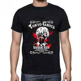 Wholesale anime shirts resale online - Tokyo Ghoul Anime Japanese Manga Ken Kaneki Short Sleeve Men T Shirt Size S XL