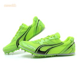 running athletic spikes shoes NZ - Spike Shoes Track and Field Men Women Training Athletic Shoes Professional Running Track Race Jumping Soft Shoes Sneakers 35-45