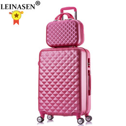 suitcase 24 Australia - 2PCS SET fashion Cosmetic bag 20 22 24 28 inch girl students trolley case Travel spinner Password luggage woman rolling suitcase