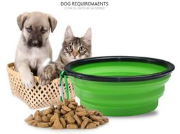 $enCountryForm.capitalKeyWord NZ - Wholesale Travel Folding Pet Dog and Cat Feeding Bowl Water Plate Feeder Silicone Folding 9 Colors Selection