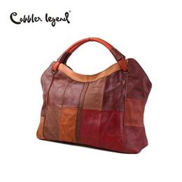 $enCountryForm.capitalKeyWord Australia - Nice- Cobbler Legend Nice New Fashion Patchwork Genuine Leather Ladies Tote Bag Large Leather Womens Shoulder Leather Handbags 11