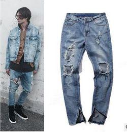 $enCountryForm.capitalKeyWord Australia - Newest Blue Ripped Jeans High -Street Hiphop Pants Kanye West Jeans Rock Brand Designer Denim Straight Biker Skinny Jean Broken Hole Pa