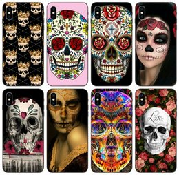 clear patterned iphone 5c cases Australia - [TongTrade] Sugar Skull Collage Pattern Tattooed Case For iPhone 11 Pro Max X XS 8s 7s 6s 5s 5c 5 Plus Galaxy S6 S7 Edge Honor 5X 6X 7X Case