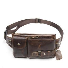 $enCountryForm.capitalKeyWord NZ - Cowhide Genuine Leather Retro Waist Pouch Belt Sport Mobile Phone Men Women With Hidden Pochete Gym Bags Running Fanny Pack