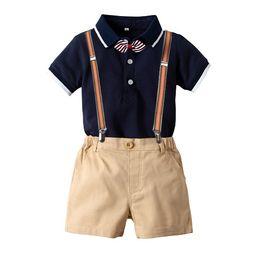 $enCountryForm.capitalKeyWord UK - Summer New POLO Short Sleeve Hat-shirt for Boys Gentlemen Tie Suit Gentlemen Belt Shorts Children Suit from Chinese Supplier