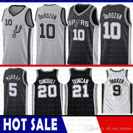 100% Stitched San Antonio Jersey Spurs Demar 10 DeRozan Manu 20 Ginobili  Tim 21 Duncan Dejounte 5 Murray 2019 New Basketball Jerseys 776bcd28e