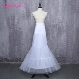 $enCountryForm.capitalKeyWord Australia - Hot sale Cheapest 2019 Mermaid Wedding Petticoats Free Size Bridal Slip Underskirt Crinoline White For Wedding