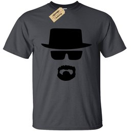 Wholesale HEISENBERG FACE MENS T SHIRT CULT BREAKING PARODY BAD PRESENT TOP jacket croatia leather tshirt denim clothes