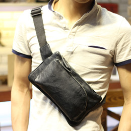leather small waist bag for men 2021 - New Design High Quality Travel Leather Fashion Waist Wallet Fanny For Men Small Pu Bags Pocket Pack Packs Srbte