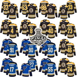 $enCountryForm.capitalKeyWord Australia - 2019 Final Boston bruins st. Louis Blues jersey 37 Patrice Bergeron 88 David Pastrnak 63 Brad Marchand 91 Vladimir Tarasenko hockey jerseys