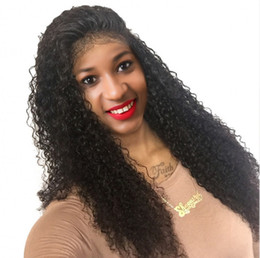 cambodian hair lace wigs Canada - Cambodian Virgin Hair Full Lace Wigs 6-26 inch Kinky Curly Human Hair Lace Front Wigs for Black Women