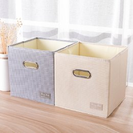 Folding storage cubes online shopping - Cube Portable folding Home supplies clothing Underwear socks organizer and kids toys storage basket Cosmetics storage box