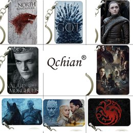 wholesale game thrones gifts 2019 - juego de tronos Game of Throne Targaryen Key chain The Song Of and Fire Targaryen Badges Keyring jewelry Gift cheap whol