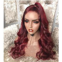 $enCountryForm.capitalKeyWord Australia - On sale 2019 unprocessed raw virgin remy human hair long 1bT99J body wave full lace cap wig for women