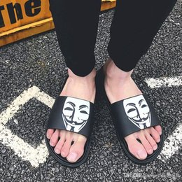 $enCountryForm.capitalKeyWord Australia - Mask Smiling face slippers Summer brand designer men slippers Wide Flat Slippery With Thick Sandals Slipper House outdoor beach flip-flops