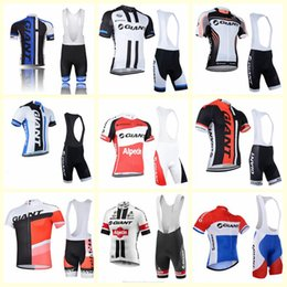 Wholesale 2019 GIANT team Cycling Short Sleeves jersey bib shorts sets mens quick dry Clothing maillot mountain bike free delivery U51711