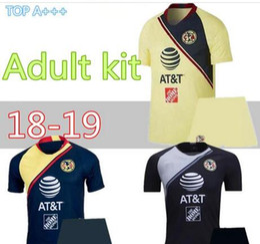aa30da9cd Mexico Red Soccer Jersey Australia - men kit 2018 2019 liga mexico club  america soccer jerseys