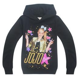 Discount big girls clothing fall - Drop Shipping Children Cartoon JOJO SIWA Boys Girls's Clothing Fall New Baby Kids Hoodies Girls Sweatshirts Big Chi