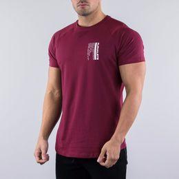 Ingrosso Magliette estive da uomo Casual TShirt Top ALPHALETE Fitness Bodybuilding Muscle Male Short TShirts 2019 Cotton Print Streetwear Tee Top
