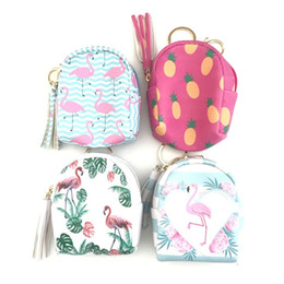 $enCountryForm.capitalKeyWord Australia - Flamingo Storage Organizer Bag Case for Headphones Key Chain Coin Purse Zipper Small Wallet Handbag Purse Mini Cute Bag