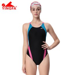0645c99d8d6 Yingfa Professional Swimsuit Women Swimwear Sports Racing Competition Sexy  Leotard Tight Lady Bodybuilding Bathing Suit XS-XXXL