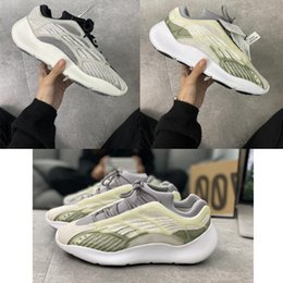 quality wholesale running shoes Australia - High Quality Kanye West 700 3M reflective Alien Runner triple White Black Clay beluga Mens running shoes Women designer Sneakers Size 365c9#