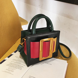 Color Leather Bags Australia - Luxury Handbag 2019 Retro Fashion Hit color Small Tote bag Quality Leather Women's Designer Handbag Lock Shoulder Messenger Bags