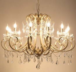 Chandelier Candles Australia - Christmas European Fashion Vintage Chandelier Ceiling lamp Candle Lights Lighting Fixtures Iron Home Lighting