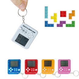 alphabet games Australia - Mini Tetris Game Player Keychain Fashion Portable LCD Handheld Game Players Children Learning Electronic Toys TTA1995-5