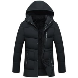 offers clothing Canada - Special Offer Men's Winter Jacket High Quality Simple Durable Plus Velvet Cotton Parka Male Thick Warm Daddy Winter Coat Clothes