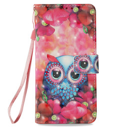 $enCountryForm.capitalKeyWord UK - Leather Flip cover phone Case for iphone 6 6s 7 8 plus x xr xs max Painted 3D owl with Credit card slot kickstand wallet