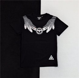9a83da71039b 19ss luxurious Brand Design Top Quality BY Eagle letter wings bronzing T-shirt  Men Women Breatheable Fashion Streetwear Outdoo