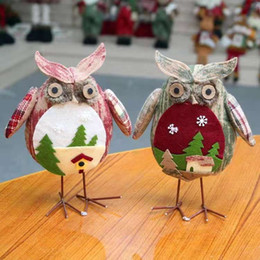 $enCountryForm.capitalKeyWord NZ - Creative Christmas Ornaments White Red Owl New Year Gift For Kids Christmas Tree Decorations Friend Festival Home Party Decor